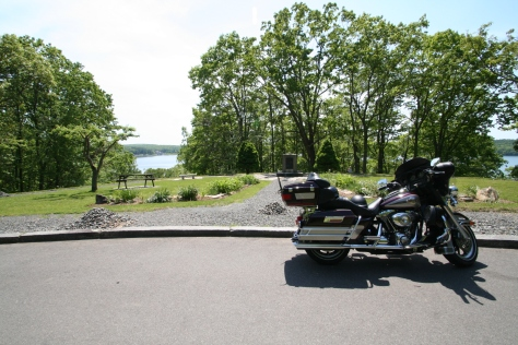Motorcyle at Quabbin