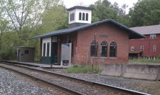 The Amherst depot near Main Street.