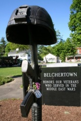 The Middle Eastern Wars Memorial in Belchertown was installed on the town common in 2008,