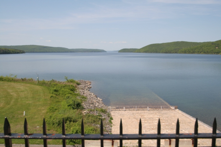 A short ceremony was held at Quabbin Reservoir to acknowledge the completion of the New England National Scenic Trail.