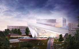 Artist rendering of Mohegan Sun's proposed casino in Palmer.