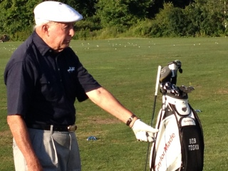 PGA Professional Hall of Farmer Bob Toski at Western Massachusetts Family Golf Center in Hadley.