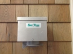 An example of a power inlet box that is mounted on the exterior of a home.