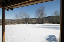 The view from the porch of this renovated home in Hawley, MA. It sits on 37 acres of land.